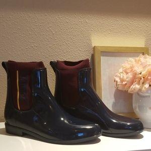 Nautica navy blue ankle rain boots